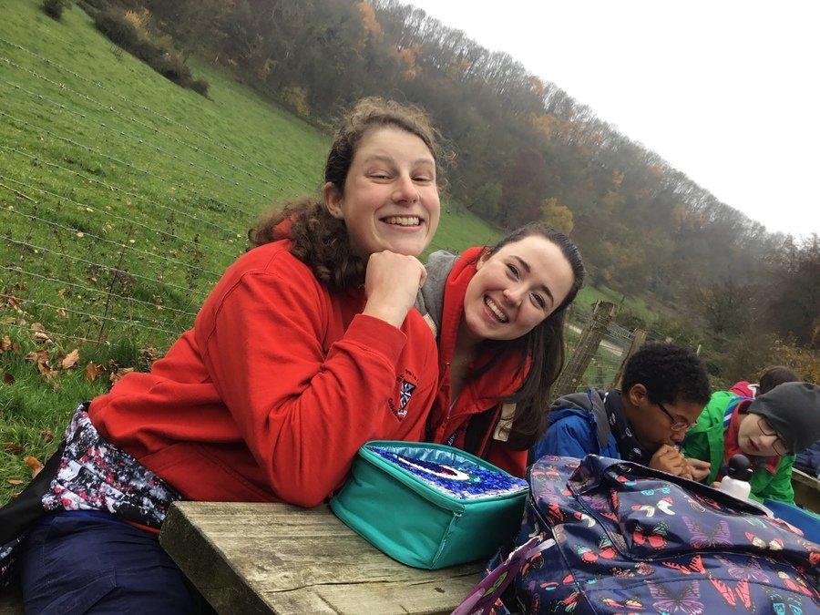 Miss Mansell and Miss Fletcher enjoying a rest!