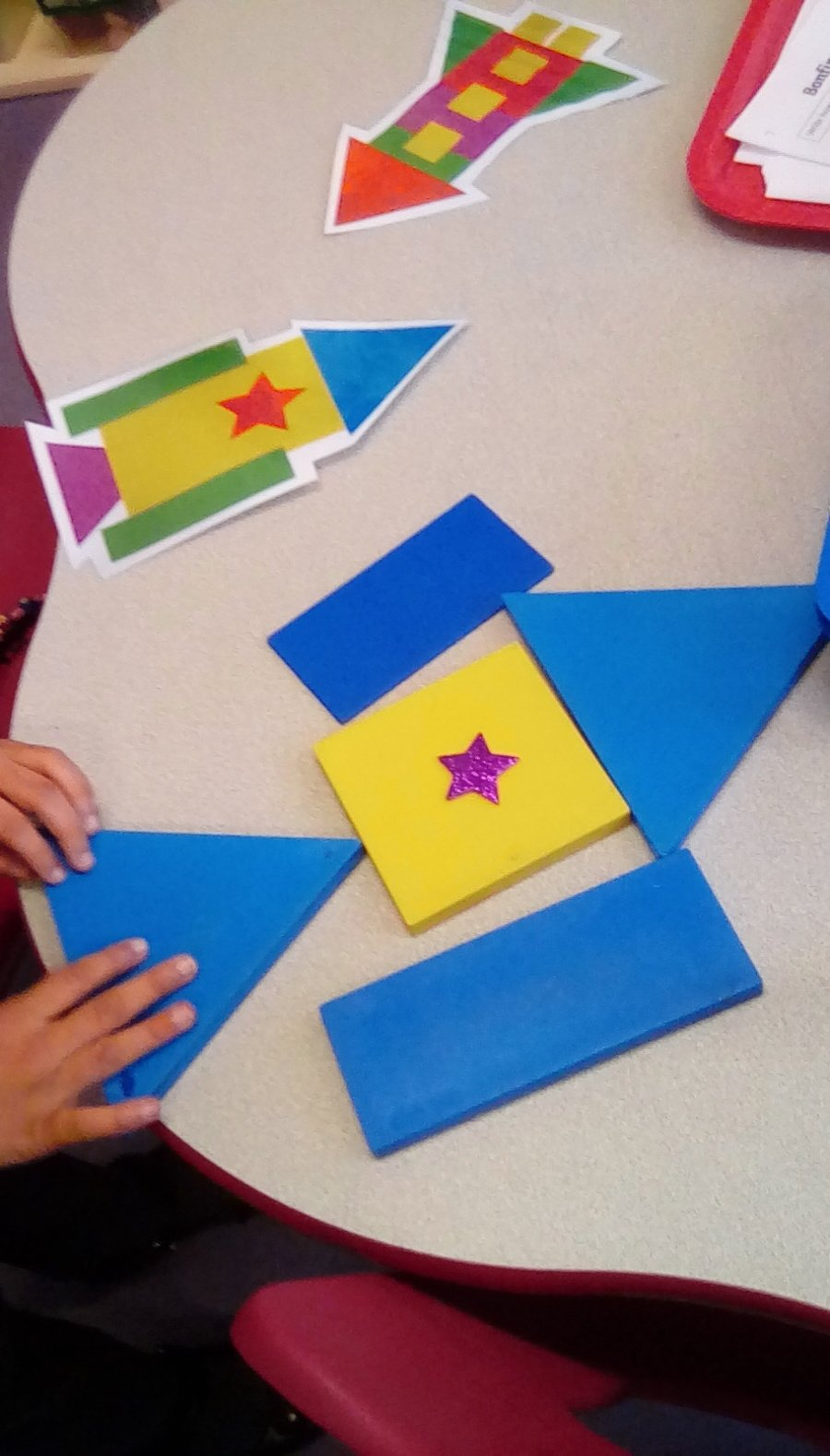 Creating representions of fireworks using 2D shapes.