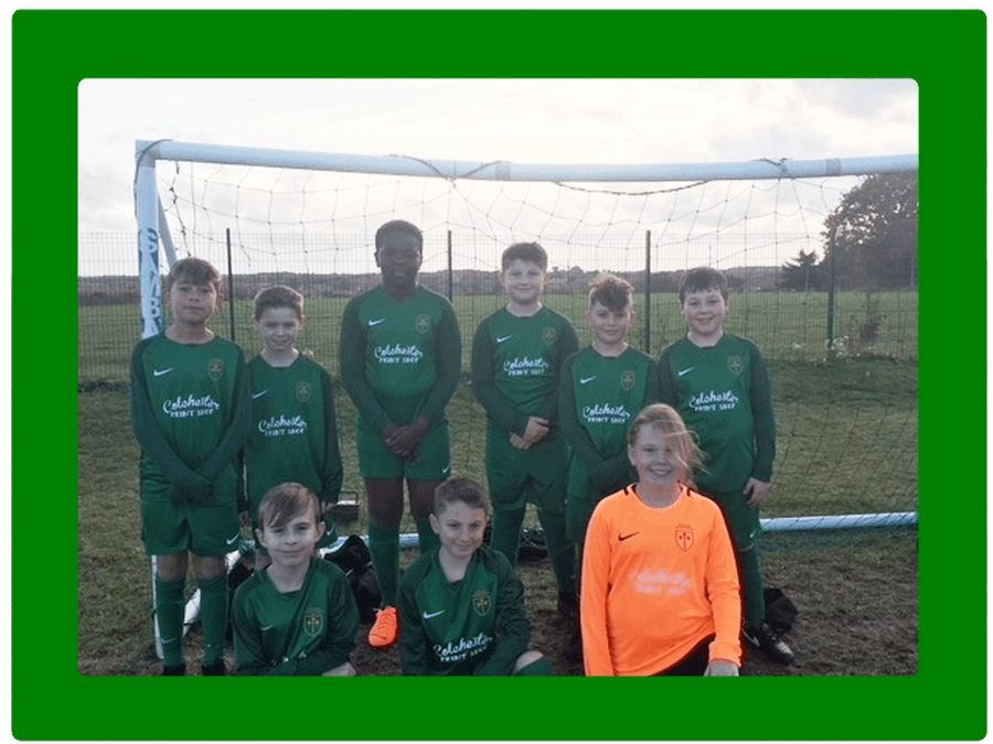 We would like to thank the PTA for funding our new football kit, modelled by the team. We would also like to thank the  Colchester Print shop for doing the printing.
