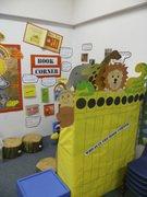 Our 'Dear Zoo' book corner