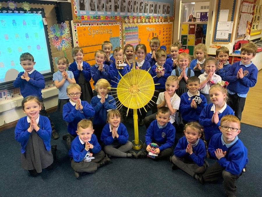 Pop into Class 7 to see our fabulous whole class monstrance!