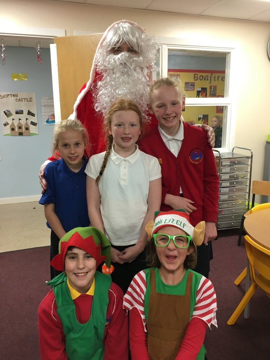 Santa and his little helpers