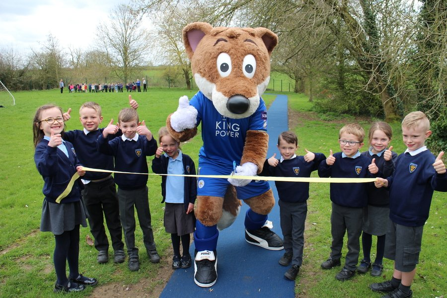 Filbert Fox opens the Daily Mile Track!