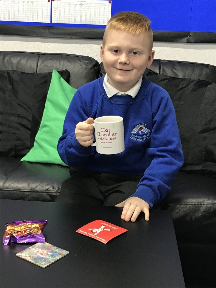 Meet our Y3 Rights Respecting pupil of the week. This young man received a special certificate and got to join Ms Shah for hot chocolate.