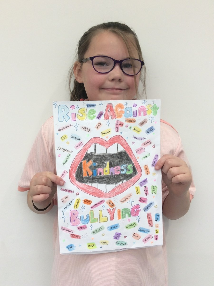Lexi -the winner of the Anti-bullying poster competition