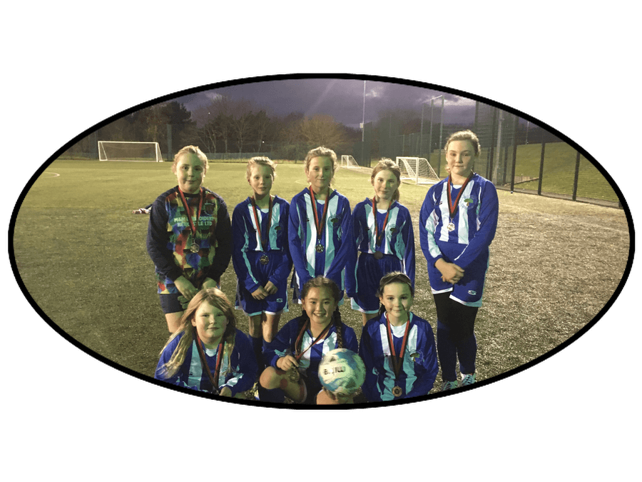 Blackfell Primary Girls' team on reaching the final of the Washington District Cup