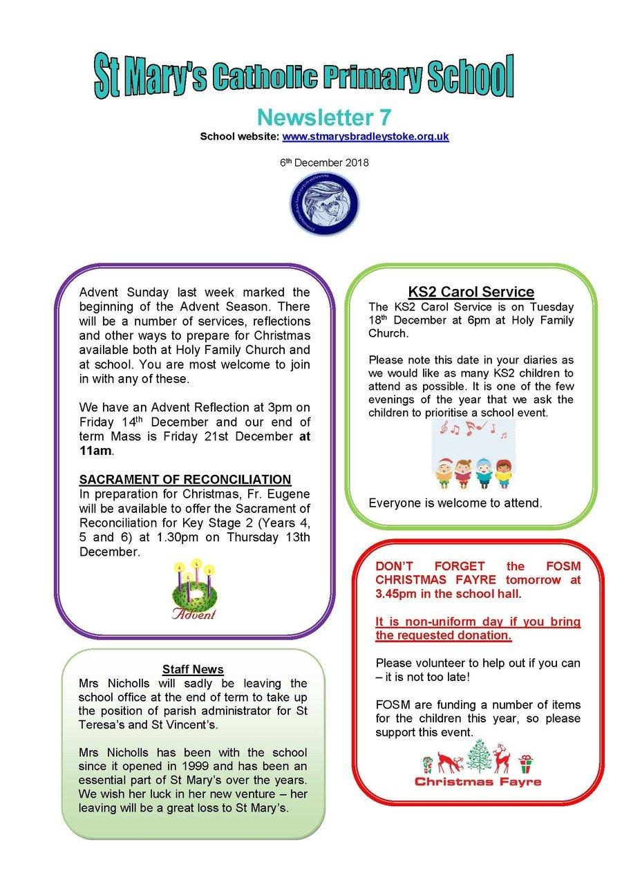 Newsletter  6 - 06.12.18