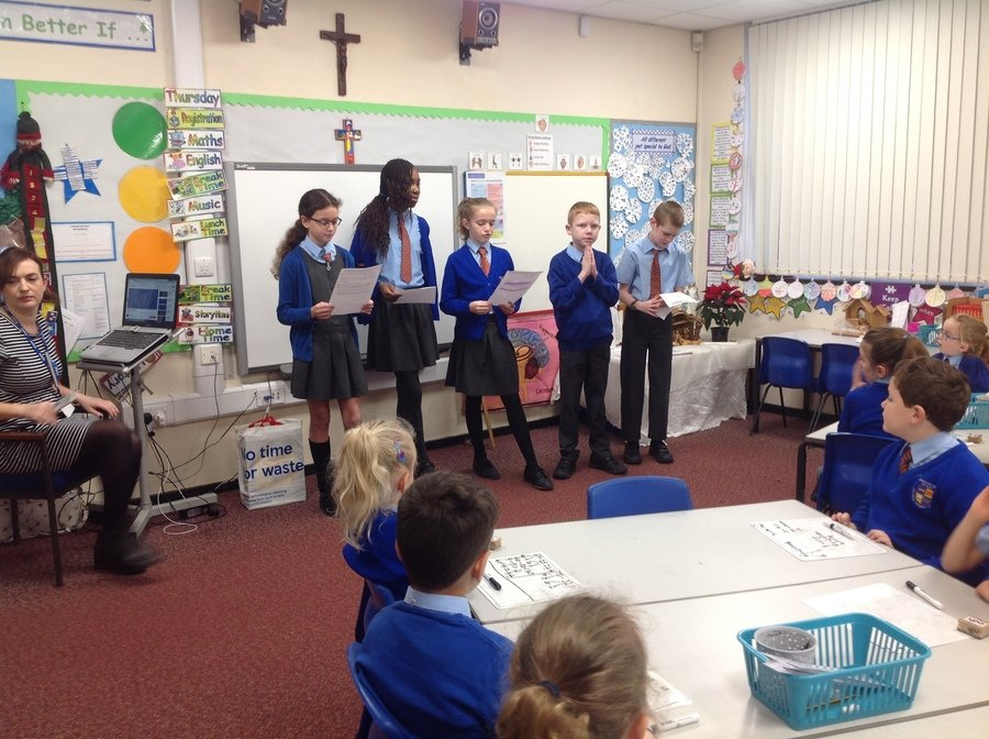 Mini- Vinnies have been leading KS1 liturgies during Advent.