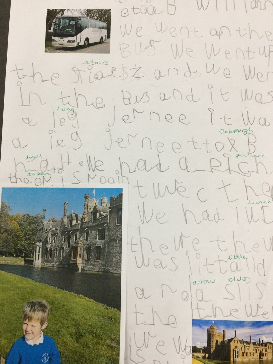 Writing about our trip to Oxburgh Hall