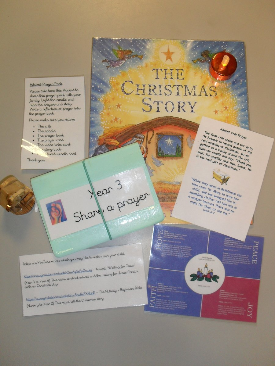 Each child has taken home an advent pack, to reflect on with their family.