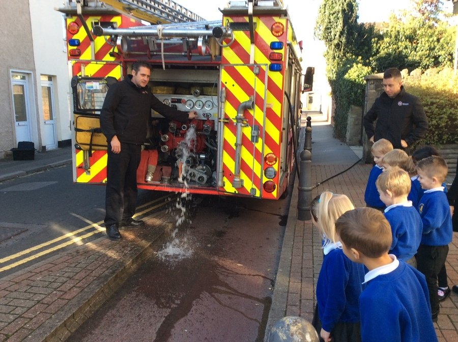 We enjoyed our visit from  the Swindon firefighters.