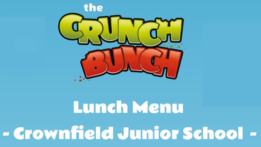 Crownfield Junior School Dinner Menu