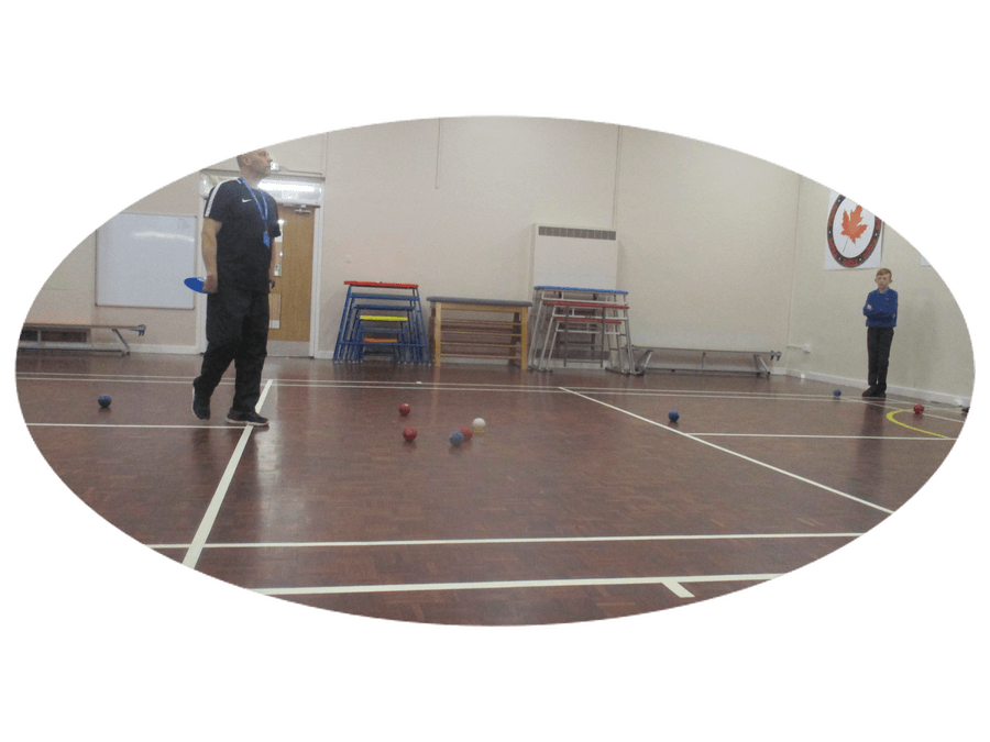 Lunch time Boccia with Mr.Anderson