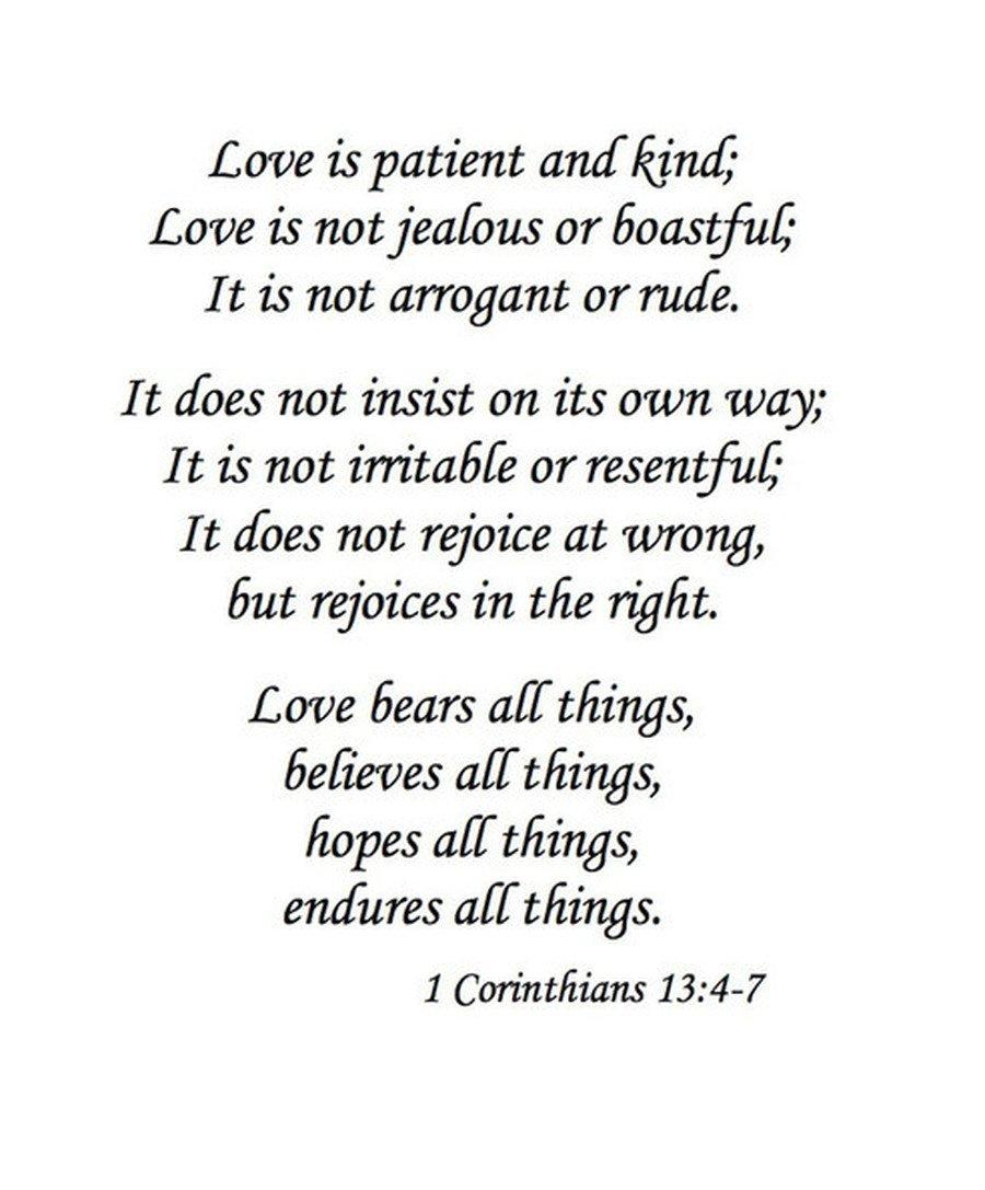1 Corinthians 13 v 4-7