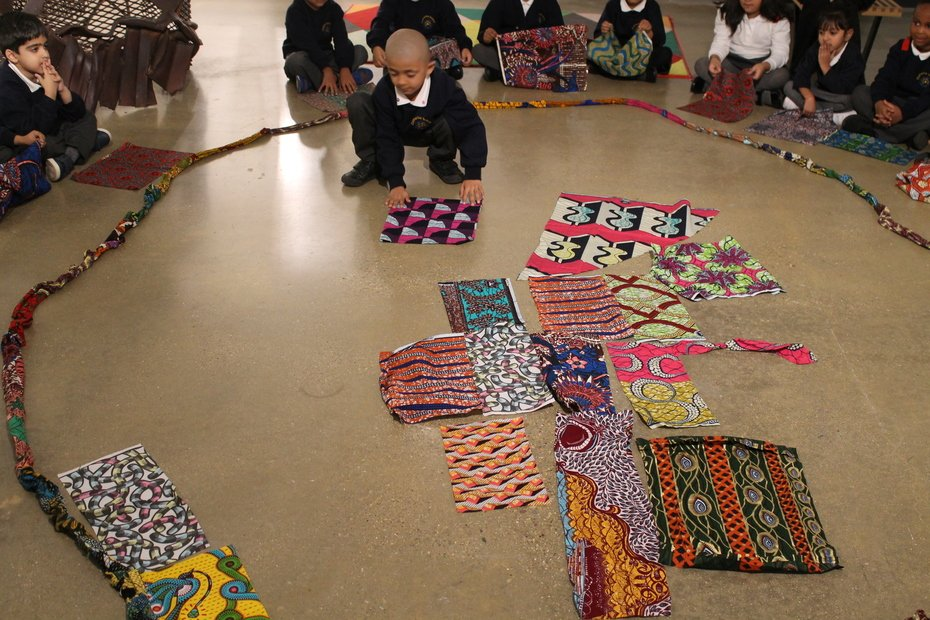 Studting Yinka Shonibare's patterns
