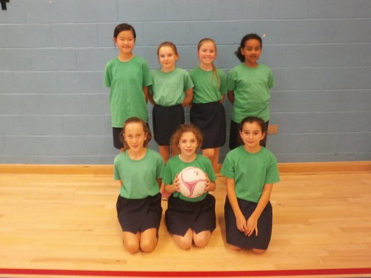 Year 5/6 Netball team as Surrey Sports Park.