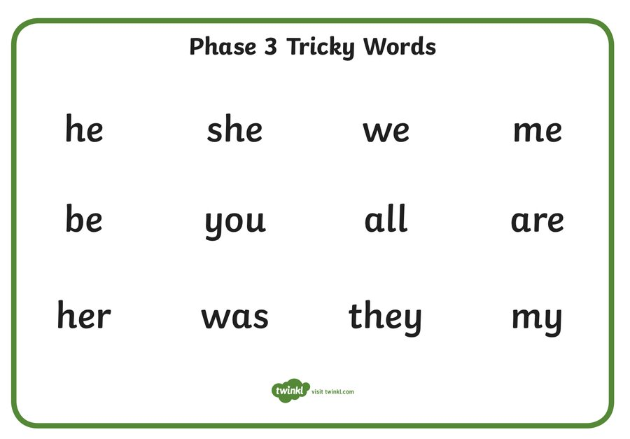 Spring Tricky words