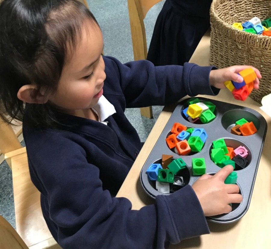 Children in Reception have been counting objects