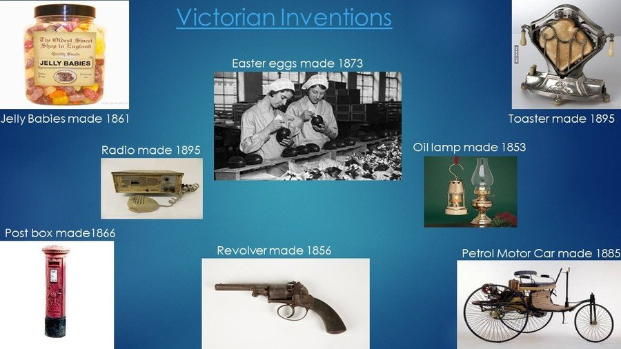 A fantastic poster of Victorian Inventions made in PowerPoint by Connor in Year 4.
