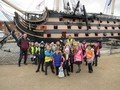Otters by HMS Victory.JPG