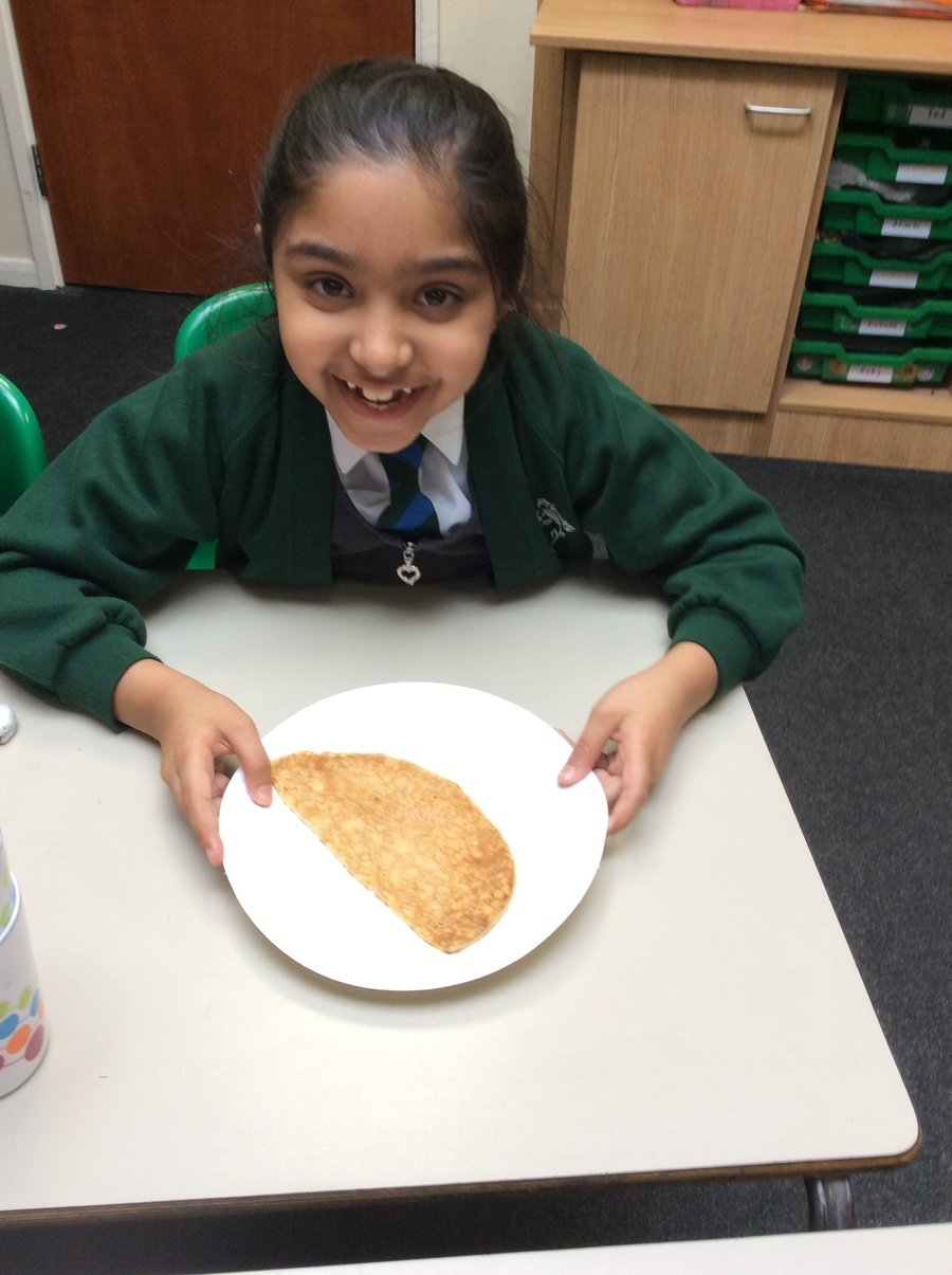 Earlier in the year, we learned about the christian festival of Lent! We loved tasting pancakes on Shrove Tuesday.