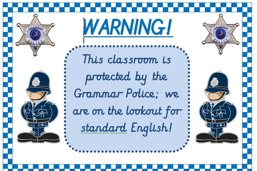 Every classroom displays this warning sign.