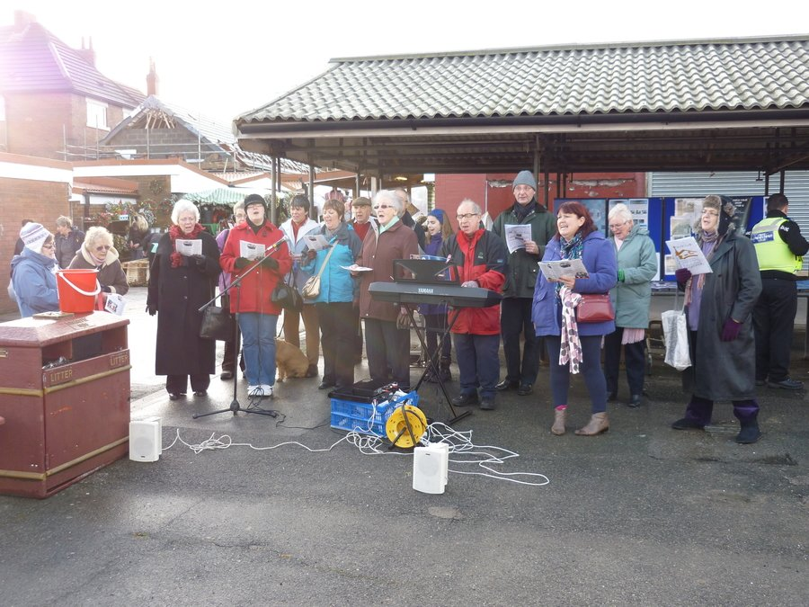 Leading Churches Together Carol Singing in Market