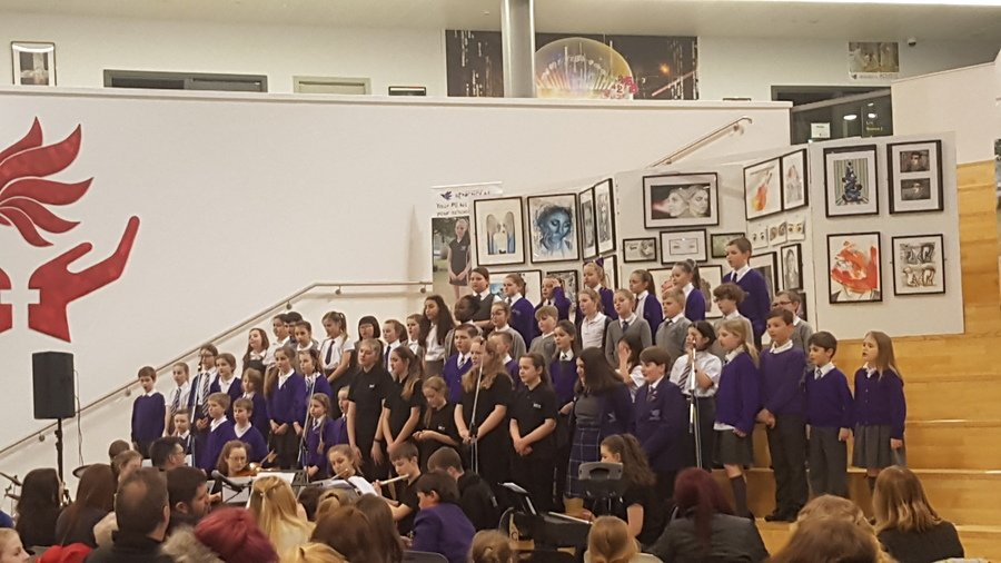 Y5 pupils performing at St Nicholas Academy