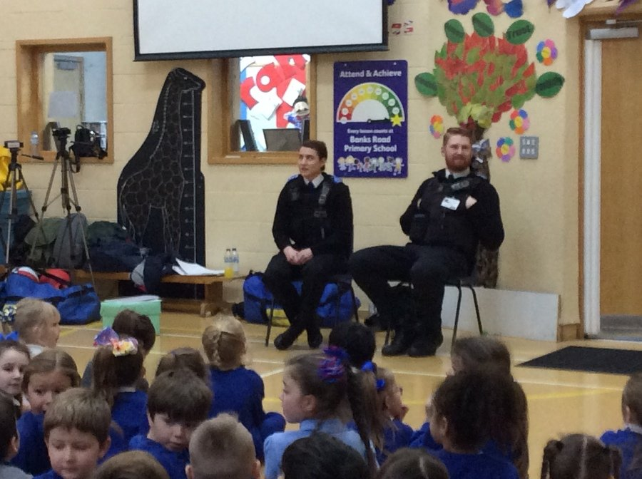 Aaron and Sarah, our community police officers, spoke about Respect in an assembly.