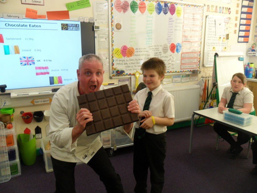 We had a visit from Carl the Chocolatier!