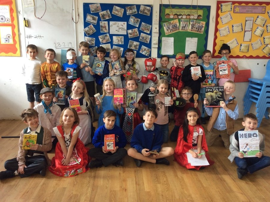On 7th March we celebrated World Book Day, Mrs White arranged a quiz and a poetry trail. The winners in Year 3 were Charlotte Chamberlain and Isla Grierson and in Year 4 Aden Kilinghan, Oliver Chamberlain, Izzy Le Grys and Dita Pursar. These children were able to name all the missing characters from the front covers and titles of books that Mrs White had copied from our school library.  Well done to these children whose efforts were rewarded with a £2.00 Book Token.