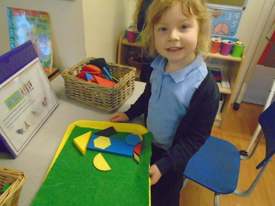 We have been using shapes to make rockets.