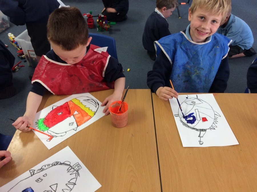 We have been learning about Picasso and painting portraits inspired by him.
