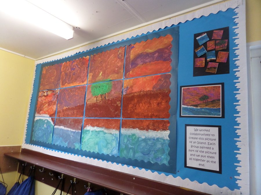 We worked collaboratively to create this picture of an Island.