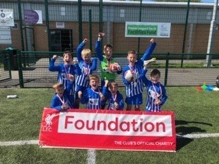 53ceba26134 A squad of Year 3 footballers - accompanied by Miss Dodds and Mrs Lamb -  took part in a Primary Stars football tournament in Liverpool on Wednesday  morning ...