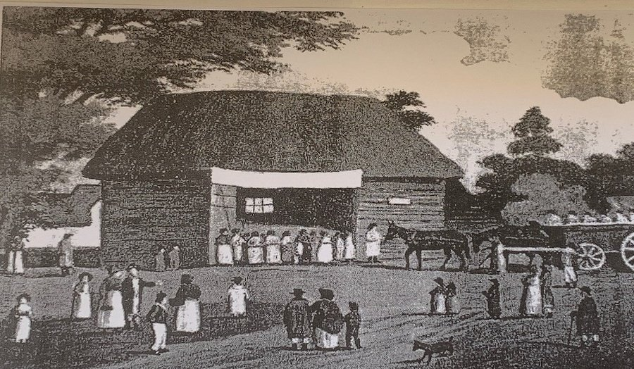 The Barn which was used as a School and Meeting House at Oxshott c1800s