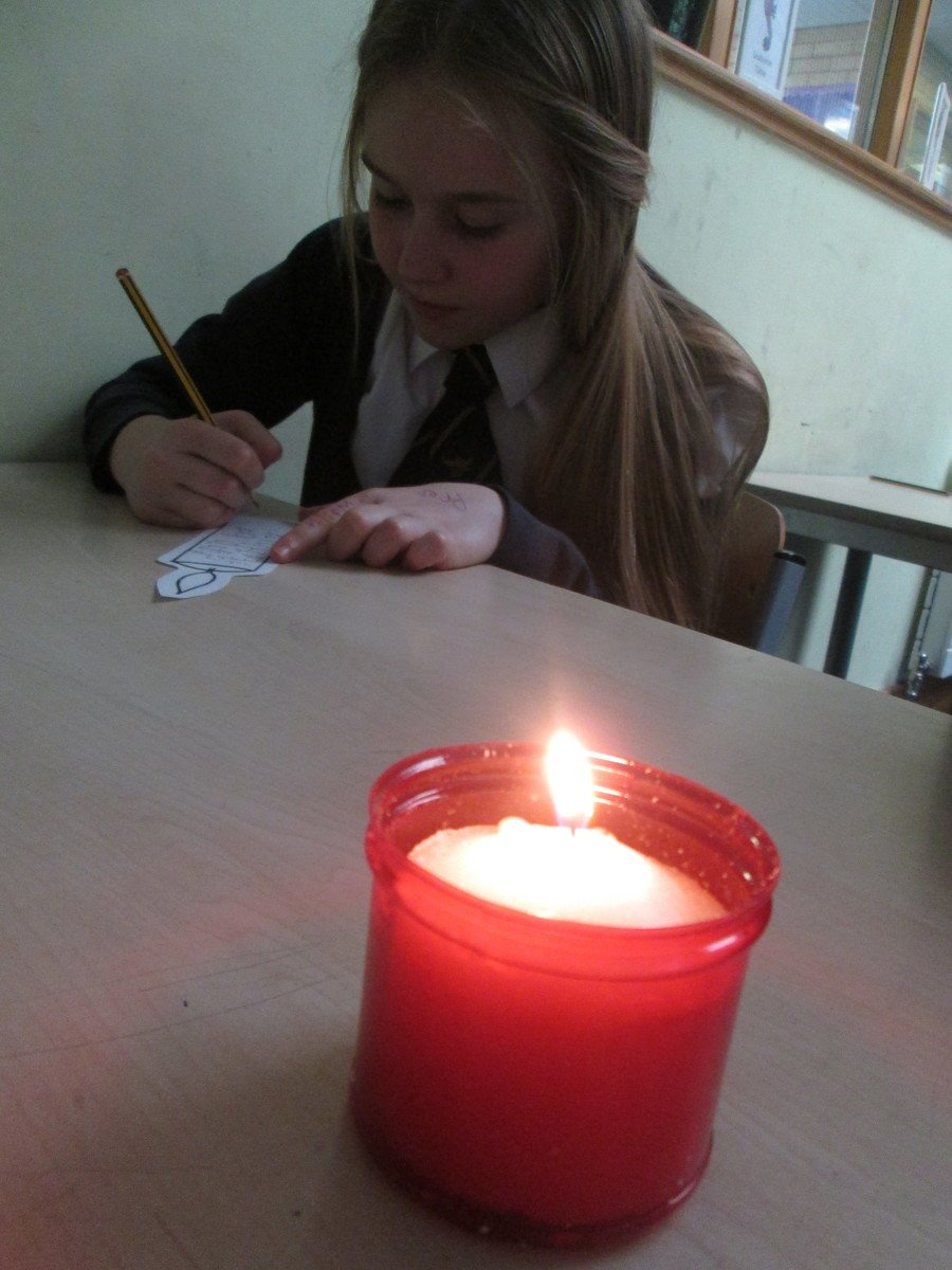 Reflecting on the Easter Vigil and creating our own Paschal Candles.