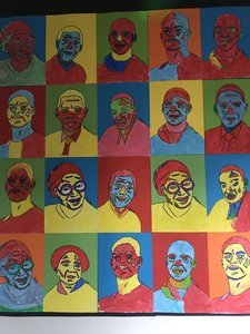 Pop art of Significant people in Black History created by Year 3.