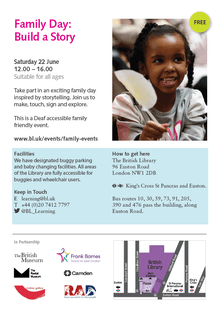 Family Day: Build a Story - Saturday 22nd June 12:00-16:00 pm (Deaf accessible family friendly event) 2