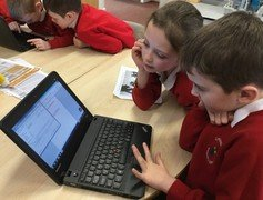 Yr 2 typing caption putting capitals in and commas between names 2.jpg