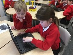 Yr 2 typing caption putting capitals in and commas between names 4.jpg