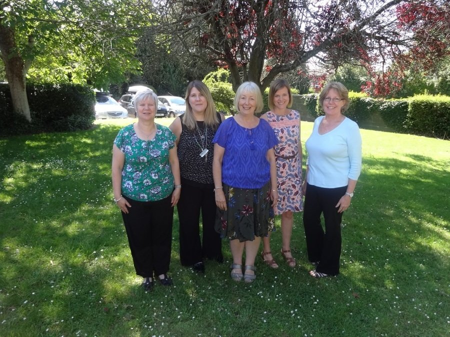 From left to right: Mrs Amos, Mrs Glasspool, Mrs Mars, Mrs Milne & Mrs Peach