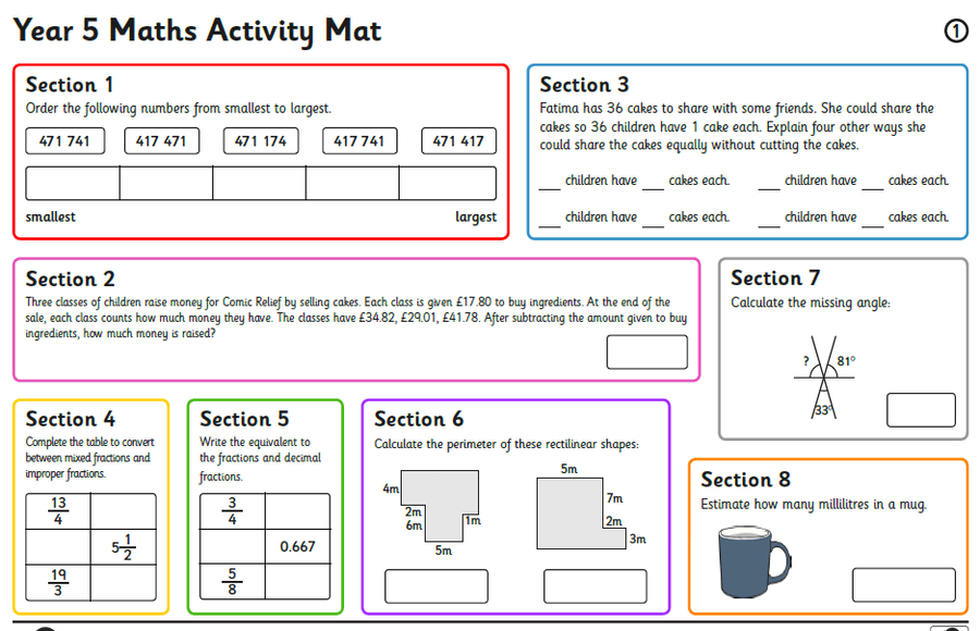 Example of Maths homework