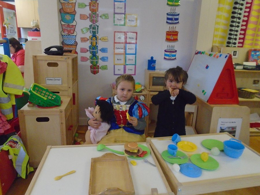 The children have enjoyed dressing up and playing in the role play area.