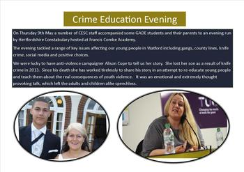 May - Crime education evening