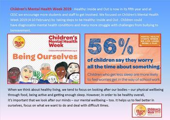 February - Children's Mental Health Week