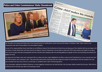 January - Police & Crime Commissioner visits us