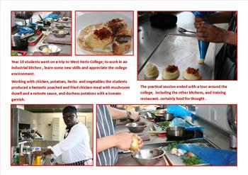 June - Food tech. visit to West Herts College