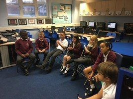 Year 4 Lime start learning the recorder
