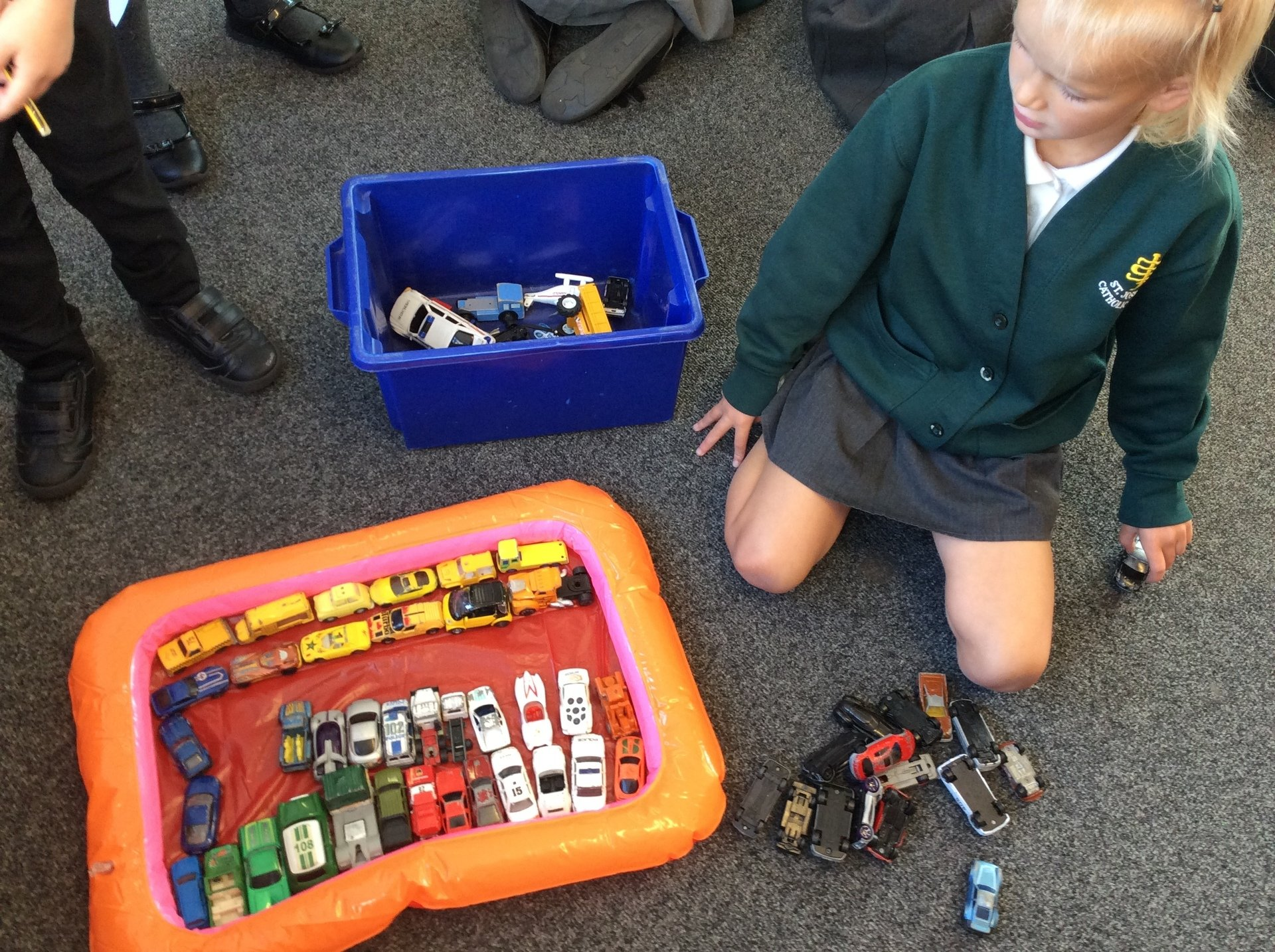 We have been sorting objects in our mathematics lesson.
